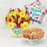 Thank You Cookies & Fruit Gift Bundle | Edible Arrangements