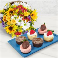 Cheesecake and Brownie Bouquet