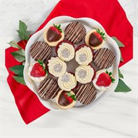 Red Velvet Cupcakes  Assorted Desserts Platter