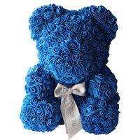 Royal Blue Rose Bear