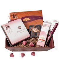 Sweetest Surprise Ruby  Dark Chocolate Gift Basket