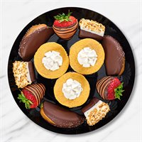 Pumpkin Cheesecake & Chocolate Fruit Platter