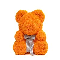 Orange Rose Bear