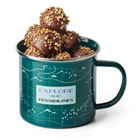 The Great Outdoors Mug with Apple Truffles