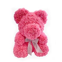 Classic Pink Rose Bear