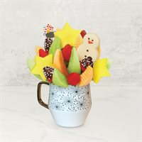 Brighten Their Day Daisy - 1 Pineapple Snowman - HD Semi-sweet strawberries with white crisps