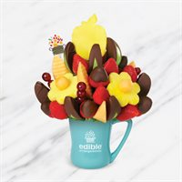 Apple Daisy Dipped Strawberries Fruit Bouquet