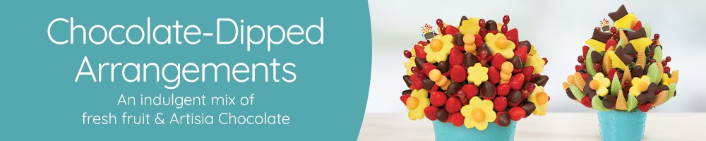 Fresh Fruit Arrangements with Chocolate