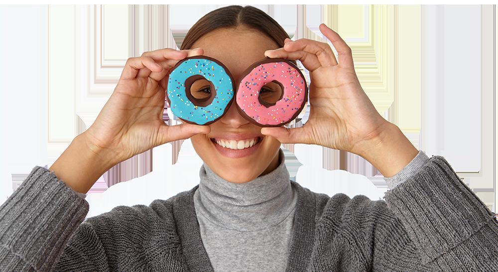 edible donut girl